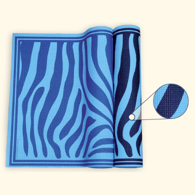 Yoga & Pilates Mat - Blue Zebra