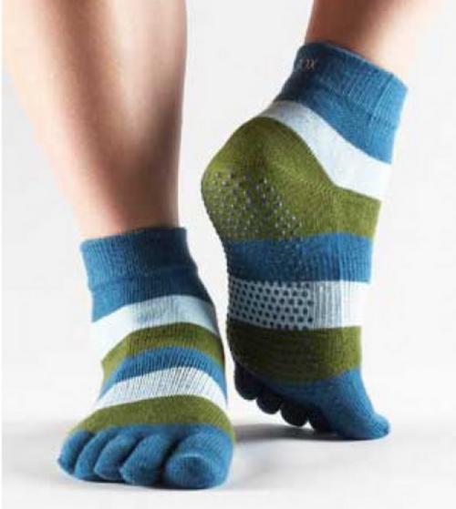 Hugger Mugger-Toesox full toe ankle-green
