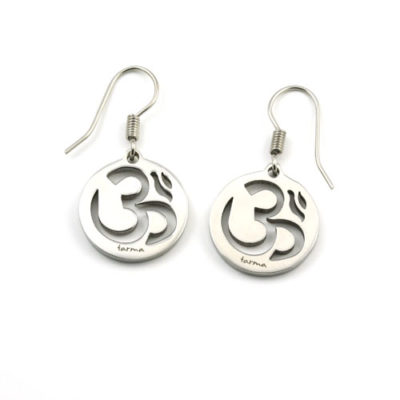 Om Earrings - Polished