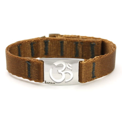 Om Wristband Polished